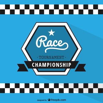 Etiqueta de campeonato de carreras