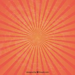 Radiación solar en tonos naranjas y rojos