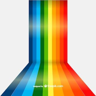 Arcoíris con líneas rectas