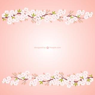ramas con flores de cerezo