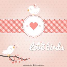 ramas pájaros en los corazones