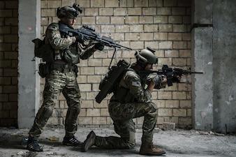 Rangers del ejército estadounidense en misión