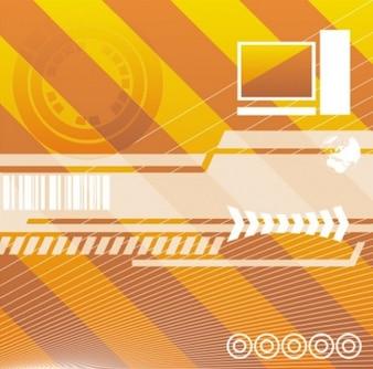 Rayas diagonales y líneas de fondo la tecnología