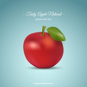 Realista manzana verde