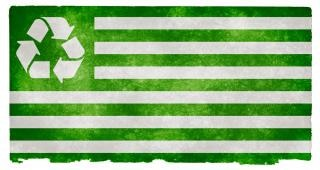 reciclado grunge bandera