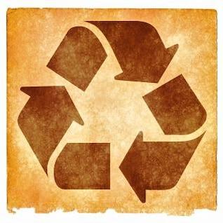 reciclaje pergamino grunge signo