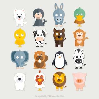 Recogida de animales divertidos