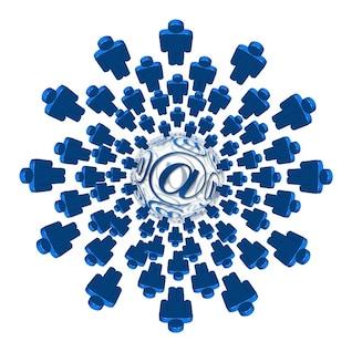 red de mensajes de noticias del email cifras telaraña fig