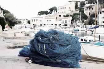 Red de pesca Azul