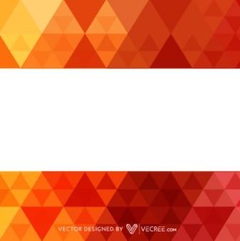 Fondo geométrico rojo con franja blanca
