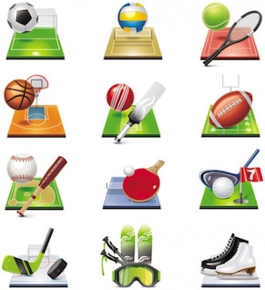 relacionado con los deportes vector icono