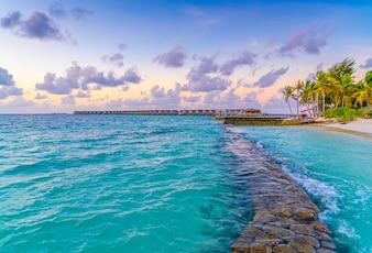 Relajación noche agua casa arrecife