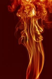 Remolino de humo curva de la magia