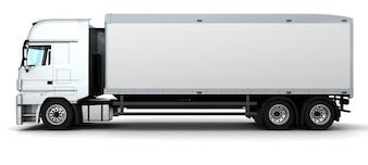 Render 3d de un camión de entrega de carga