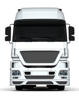 Render 3d de un vehículo de entrega de carga