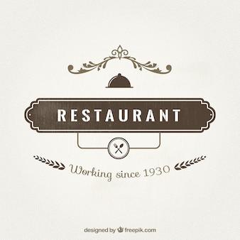 Insignia de restaurante en estilo retro