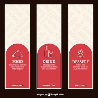 Etiquetas de carta de restaurante