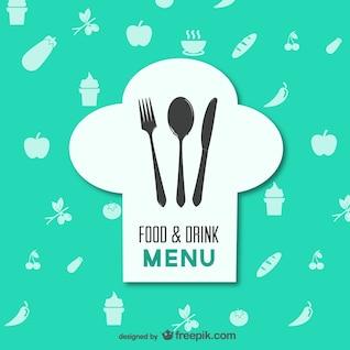 Restaurante menú de comida vector