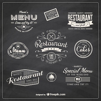 restaurante retro insignias