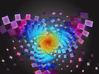 Resumen colores del arco iris patrón geométrico