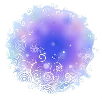 resumen de antecedentes azul con forma de remolino de flores
