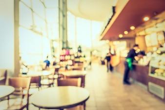 Resumen de desenfoque restaurante y cafetería cafetería