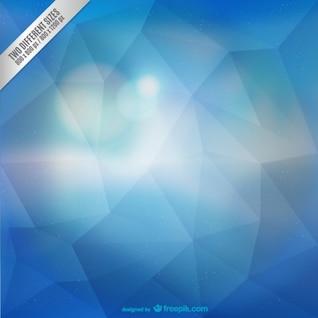 Resumen de fondo azul poligonal