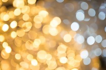 Resumen de fondo con luces y estrellas bokeh desenfocado