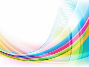 resumen de la onda colorida ilustración vectorial