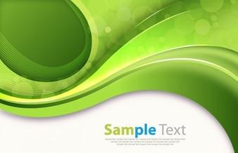 resumen de las curvas de color verde de la imagen vectorial