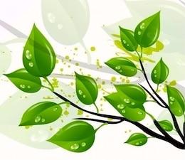 resumen de las hojas verdes ilustración vectorial
