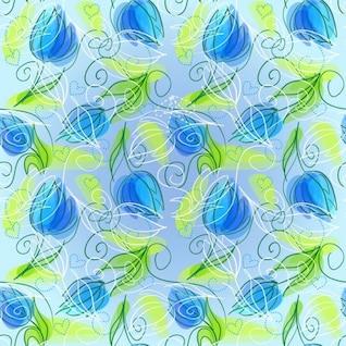 Resumen floral fondo vector sin fisuras