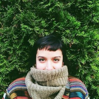 Retrato de la muchacha cubierto