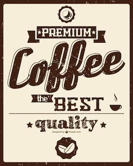 Cartel retro de café