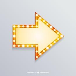Retro flecha luz