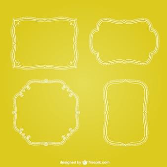 Marcos minimalistas retro