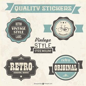Insignias de calidad de estilo retro