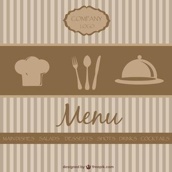 Diseño de menú de restaurante de estilo retro