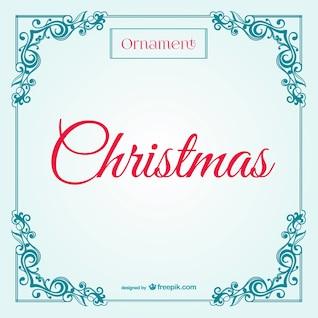 Retro tarjeta de Navidad