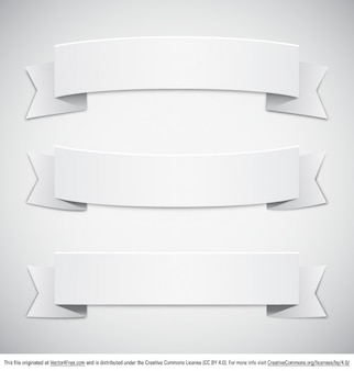 Banderas de papel retro blanco