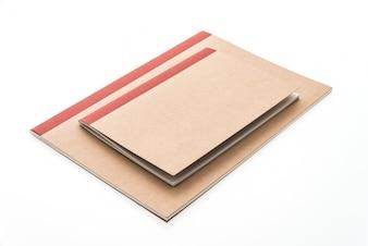Revista cuadrado copia cuaderno vacío