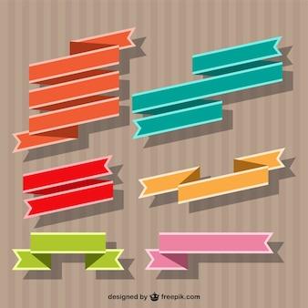 Cintas de colores vectoriales