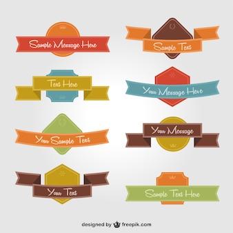 Diseños de cintas de colores