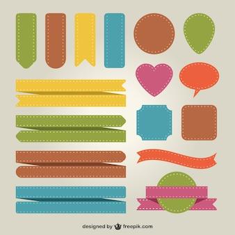 Cintas y stickers de colores