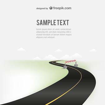 Ilustración de carretera con texto