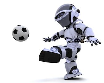 Robot jugando al fútbol