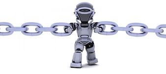 Robot que sostiene una cadena