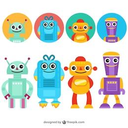Robots divertidos avatares