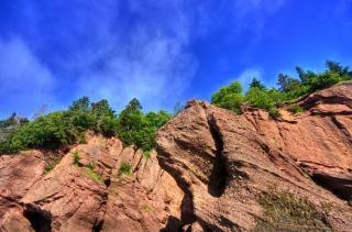 rocas maceta hdr cian