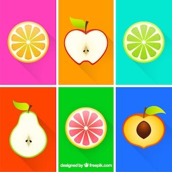 Rodajas de frutas de colores